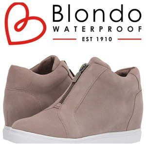 BLONDO 'Glenda' Waterproof Suede Wedge Sneakers